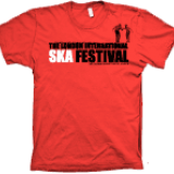 London Intl Ska Festival Red T-shirt